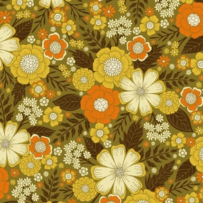 1970s Retro/Vintage Floral Pattern