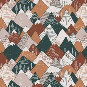 Mountains in brown colors