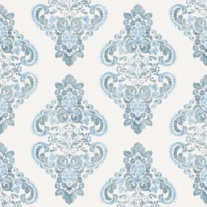 Grey Blue damask