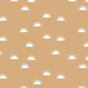 Little sunshine morning minimal trend abstract kids nursery design honey yellow