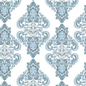 Vintage Blue damask