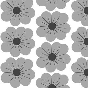 Big Grey Flowers