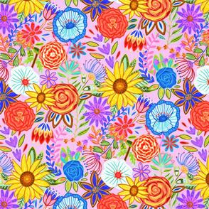 Summer Festive Floral (Medium Scale)