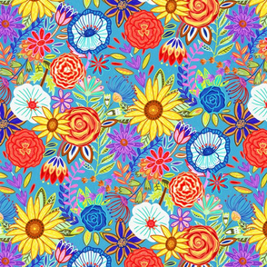 Spring Festive Floral (Medium Scale)
