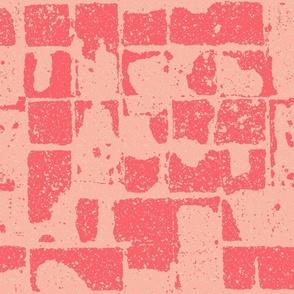 brickwork, warm reds
