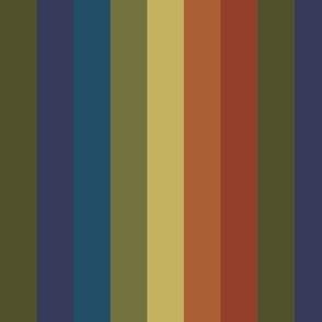 Retro Rainbow 70s Vertical Stripe