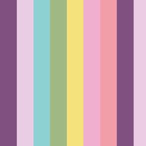 Unicorn Pastel Rainbow Vertical Stripe