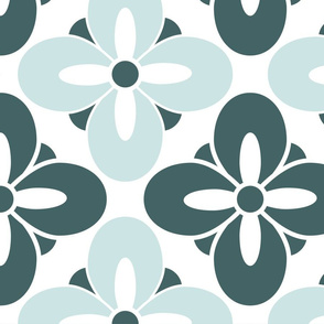 Wonderful Tile Mint Green Floral
