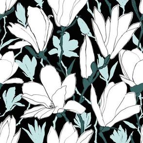White and Mint Magnolia