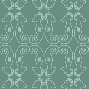 Seahorse Party Green