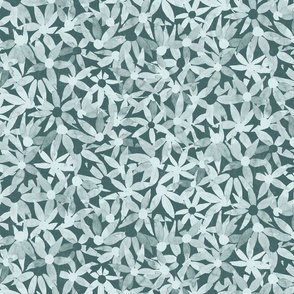 Endless flowers  - Pine and mint watercolor floral