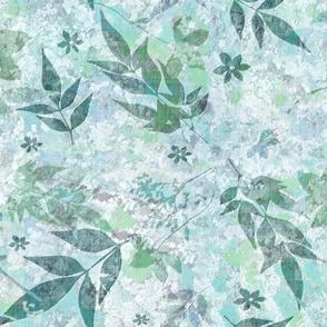 faux lichen w mint leaves