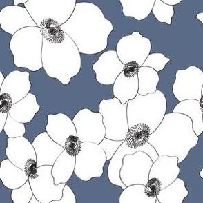 Dogwood blue and white