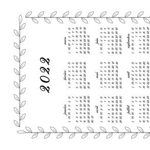 2021 French Bistro Tea Towel Calendar