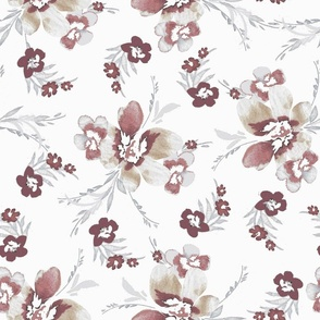 Whimsical blushed floral