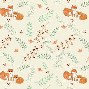Foxes and Foliage