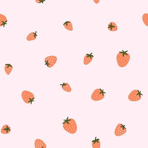 Strawberry on pink