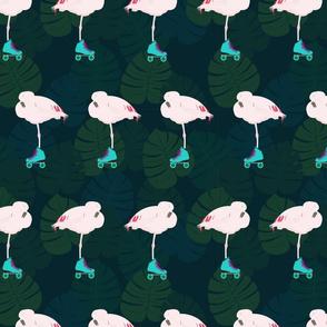 flamingo skate party - navy