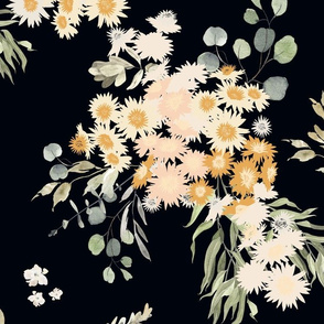 Native bouquet // Australian paper daisy, eucalyptus leaves