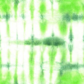 Tie dye in green