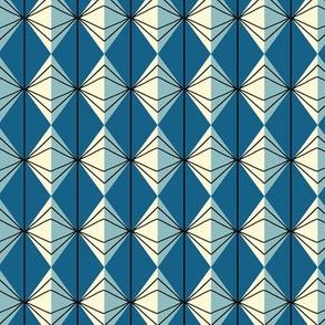 Teacup retro geometric blue