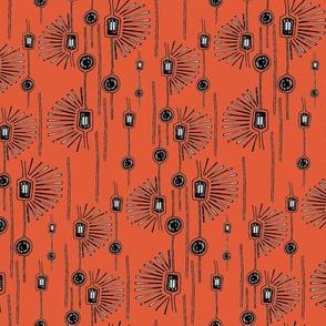 Modern Florals Tangerine