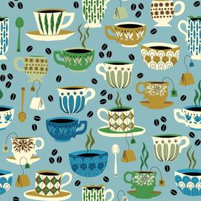 Coffee or tea blue