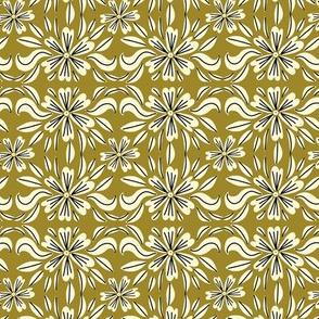 Teacup floral ochre