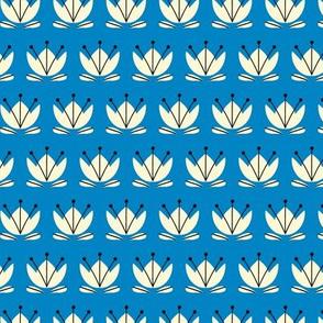 Teacup tulip blue