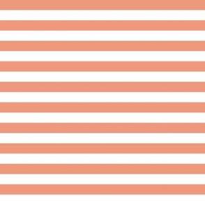 Dusty pink & white stripes