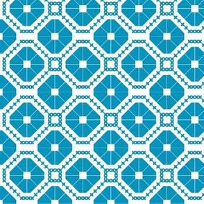 Blue Diamonds Pattern