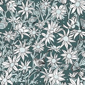 Superb Flannel Flowers - Larger scale