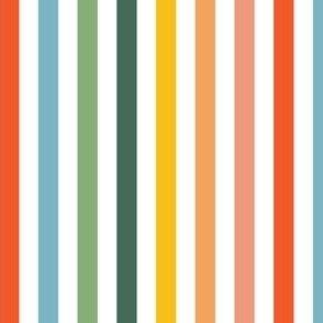 Vertical Rainbow Stripes