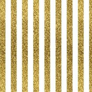 Gold Glitter Stripes, Vertical