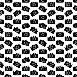 Camera Icons Pattern (Small Print Size)