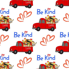 The REAL Food Truck BE KIND Share hearts