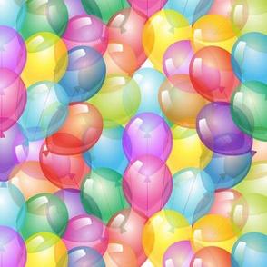 Balloons stacked birthday