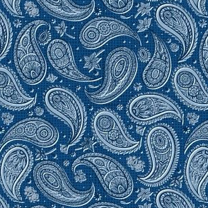 Paper Paisley//Blue//Small Scale