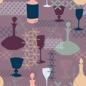 cheers! in vintage palette