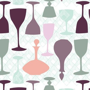 raise a glass  in vintage palette