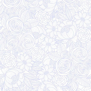 floral linework - lilac