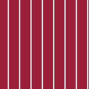 Red with white stripe