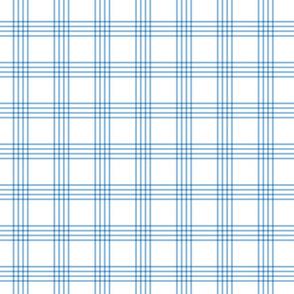 pastel blue rainbow plaid coordinate