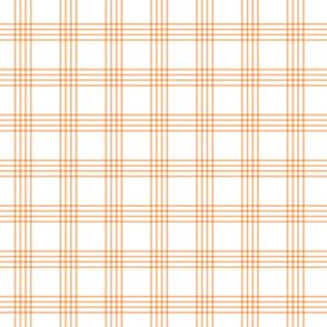 pastel orange rainbow plaid coordinate