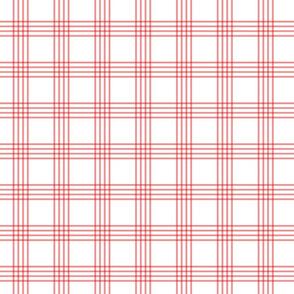 pastel red rainbow plaid coordinate