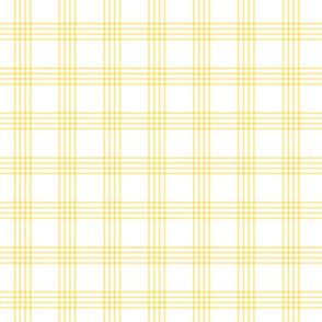 pastel yellow rainbow plaid coordinate
