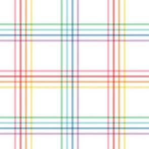 pastel rainbow plaid