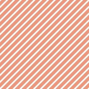 Dusty Pink Diagonal Stripes
