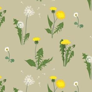 dandelion garden - beige