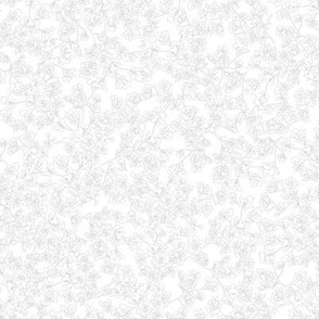Yarrow Black Outline on White